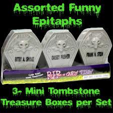 candy bones mini coffin tombstone box halloween party favors set