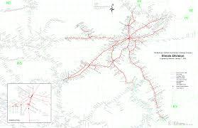 Chicago Line Map by Multimodalways Burlington Northern Santa Fe Railway Archives Maps