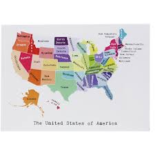 United States Map Delaware by Map Of The East Coast Note Card April May Smudge Ink