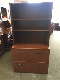 Two Drawer Lateral File Cabinet by Haworth 2 Drawer Lateral File W 2 Shelf Hutch Laber U0027s Furniture