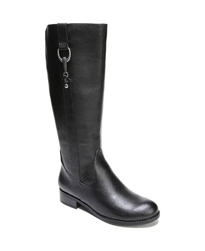 LifeStride Sikora Wide Calf Boots Black- Womens