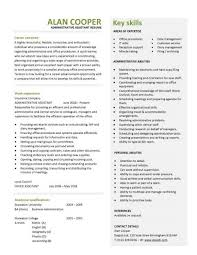 Sample Resume Of Office Administrator by Administration Cv Template Free Administrative Cvs Administrator