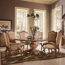 rustic dining room with wooden 4 bordeaux dining chairs set brown