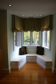 curtains small bay window curtain ideas decor living room for