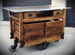 Portable Islands For Kitchens Reclaimed Wood Portable Kitchen Island Cart Designs Ideas