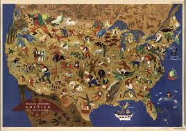 The Map Of The United States Of America by All Of America U0027s Folk Heroes In One Map Folk History And
