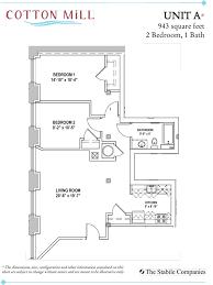 2 Bedroom 1 Bath Floor Plans Unit A 2 Bedroom 1 Bath 943 Sq Ft