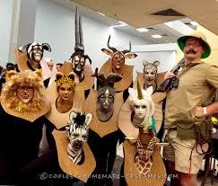 amazing taxidermy animal heads funny group costume halloween