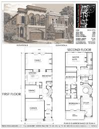 House Plans 2 Story by 2 Story Narrow Lot House Plans Planskill Awesome Narrow House
