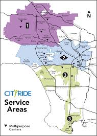 Los Angeles County Map by Cityride Ladot Transit Services