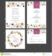 Card Invitation Bridal Shower Card Invitation With Watercolor Flowers Stock Vector