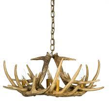 Home Depot Interior Lights Lamp U0026 Lighting Authentic Looking Deer Antler Chandelier For Your
