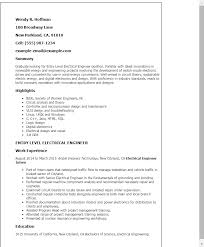Entry Level Resume Examples by Marine Electrical Engineer Sample Resume 14 Sales Resume Updated