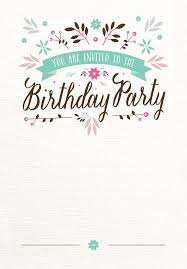 Free Printable Birthday Invitation Cards With Photo Flat Floral Free Printable Birthday Invitation Template