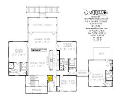 Servant Quarters Floor Plans St George Cottage House Plan House Plans By Garrell Associates