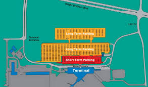Chicago Ord Terminal Map by Airport Parking Maps For Chicago Ohare Cincinnati Cleveland Hopkins
