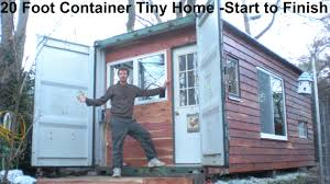 Tiny House Hotel Near Me 20 Foot Container Tiny Home Construction From Start To Finish