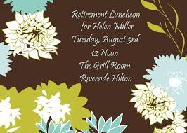 Retirement Function Invitation Card Excellent Lunch Party Invitation Card With Nautical Theme And Blue