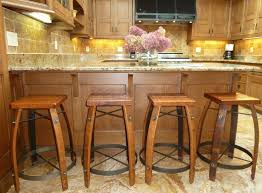 stunning contemporary kitchen design with dazzling bar decoration