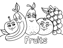 printable healthy eating chart coloring pages for fruit eson me