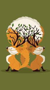 cute fall wallpaper backgrounds tap and get the free app art two foxes green trees orange