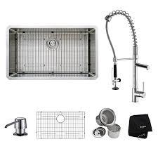 Kitchen Sink With Faucet Set Kraus Khu100 32 Kpf1602 Ksd30ch 32 Inch Undermount Single Bowl