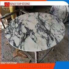 Custom Marble Table Tops by Italian Arabescato Marble Dining Table Arabescato White Round