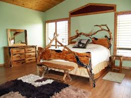 modern rustic bedroom ideas blue wall interior color decoration