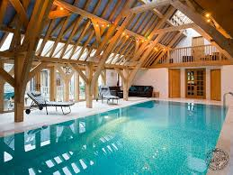 Indoor Balcony Oak Framed Swimming Pool House Extension