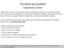 Tax Accountant Sample Resume by Taxationaccountantexperienceletter 140822034830 Phpapp02 Thumbnail 4 Jpg Cb U003d1408679421