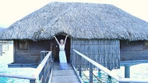 bora bora overwater bungalow tour youtube