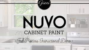 How To Paint Kitchen Cabinets Video Nuvo Cabinet Paint Instructional How To Video Youtube