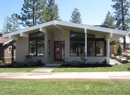 mid century modern house plan bend oregon mcm exterior