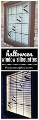 halloween window silhouettes create craft love