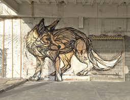 Wolf Mural by Animal Street Art By Dzia Stampede Curated