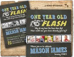 1st Year Baby Birthday Invitation Cards 1st Birthday Invitation One Year Old In A Flash First