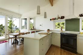 interior kitchens without upper cabinets dark brown hardwood