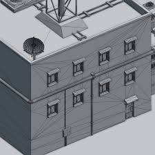 House 3d Model Free Download by Futuristic Ghetto Building 3d Model 3ds Obj Dae Blend