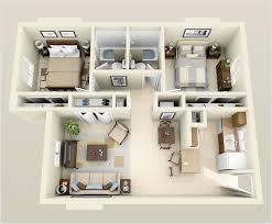 Floor Plan 2 Bedroom Apartment 10 Awesome Two Bedroom Apartment 3d Floor Plans Bedroom