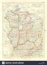 Us Map Michigan by Usa Mid West Wisconsin Michigan Illinois Ohio Indiana Kentucky Tn
