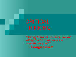 What does critical thinking mean to you  Critical thinking     FC