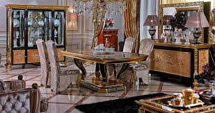 Classic Italian Dining Room Furniture With Luxury Flooring Design - Classic italian furniture