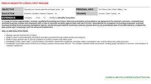 benefits administrator resume writer