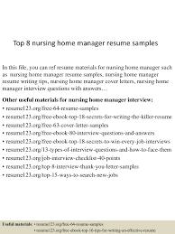 comprehensive resume sample for nurses top8nursinghomemanagerresumesamples 150517042948 lva1 app6891 thumbnail 4 jpg cb 1431837036
