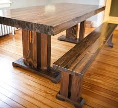 Kitchen Table Bar Style Farm Style Wood Dining Table With Well Made Solid Wood Butcher