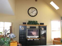 How To Decorate Walls by Decorating Ideas For Tops Of Entertainment Centers With High
