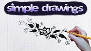 simple drawings 43 how to draw flower pattern youtube