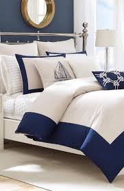 Nautical Vibes For The Bedroom White And Navy Nautica Bedding - Nautica bedroom furniture