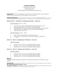 Resume Sample For Ojt Pdf by Objectives For Ojt Restaurant Manager Objective Objectives In