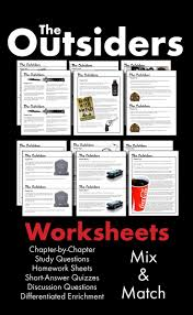 images about Outsiders on Pinterest Use this visually stunning package of chapter by chapter questions covering S E  Hinton     s classic